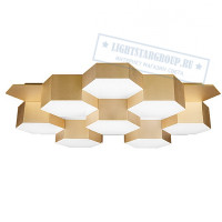 Люстра LIGHTSTAR Favo LED-80W 3840LM Satin Gold 3000K 750161